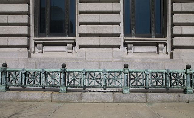 Ornamental railing, Howard M. Metzenbaum U.S. Courthouse, Cleveland, Ohio