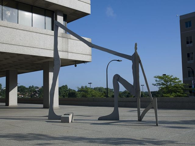 Outdoor sculpture at the Seiberling Federal Building, Akron, Ohio