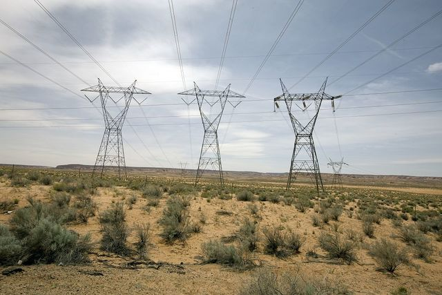 Power Lines in Page, Arizona