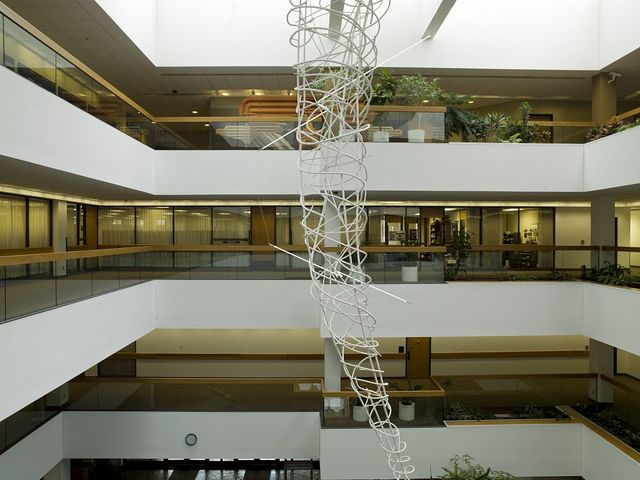 "Sculpture ""The White Tornado"" at the Frank Carlson Federal Building & U.S. Courthouse, Topeka, Kansas"