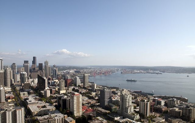 Seattle, Washington, view taken from the Space Needle