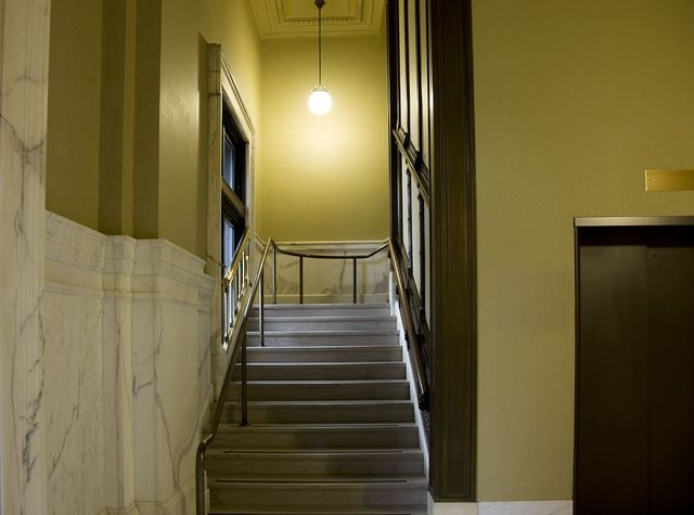 Stairwell, Howard M. Metzenbaum U.S. Courthouse, Cleveland, Ohio