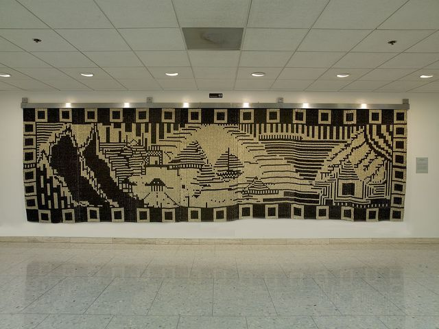 """Tapestry """"Evolutionary Notes to Wk"""" at the Hubert Humphrey Federal Building, Washington, D.C."""