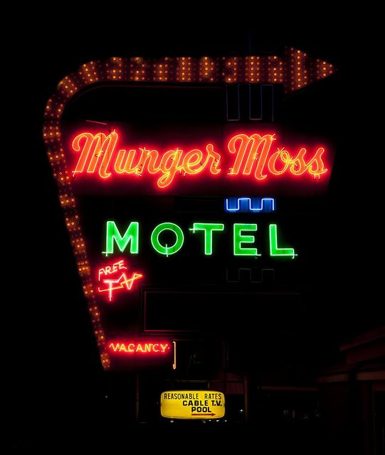 The Munger Moss Motel neon sign, Route 66, Lebanon, Missouri