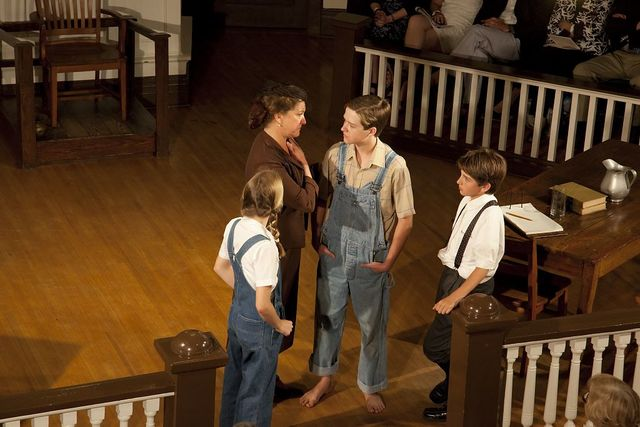 """A scene from the play """"To Kill A Mockingbird,"""" performed in Monroeville, Alabama"""