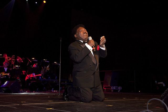 "Alabama native Percy Sledge sang ""When A Man Loves A Woman"" and the audience went wild at the Alabama Country Music Hall of Fame concert for the Inductees into the Hall of Fame, Montgomery, Alabama"
