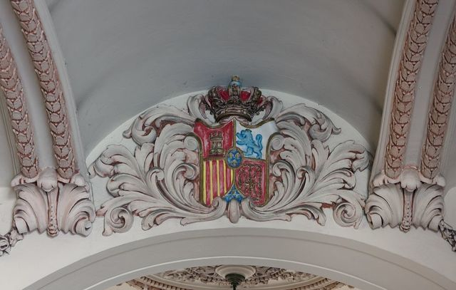 Architectural detail in the interior of the National Theatre (Palacio del Centro Gallego) located on the Prado in Havana, Cuba