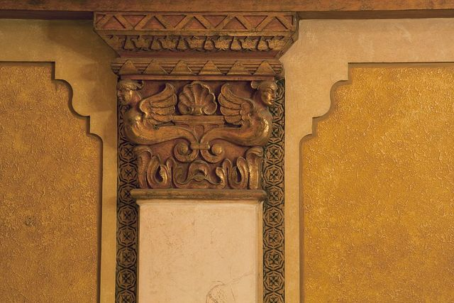 Architectural detail, interior, Alabama Theatre, Birmingham, Alabama