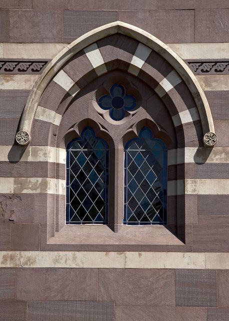 Architectural detail located on the Chapel Building at Gallaudet University, located between 6th and 9th St., NE, Washington, D.C.