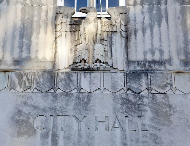 Architectural detail of City Hall, Tuscaloosa, Alabama