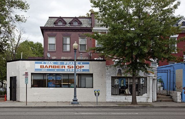 Braid shop and barber shop, Georgia Ave. near Kenyon St., NW, Washington, D.C.