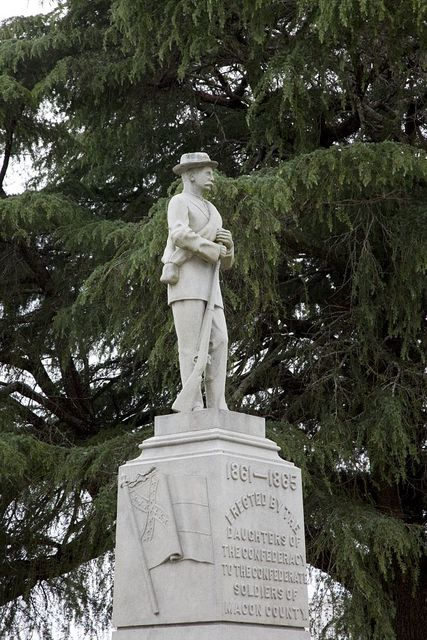 Confederate statue in the town square of Tuskegee, Alabama