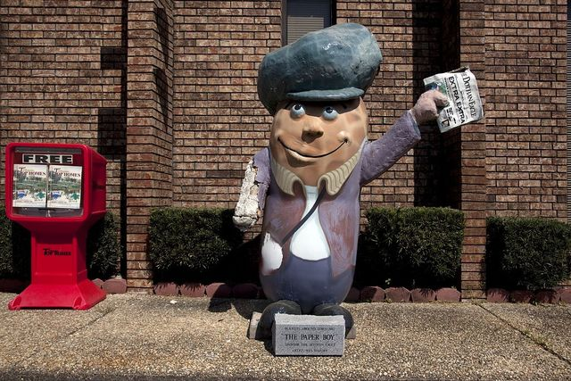 "Dothan, Alabama, named the ""Peanut Capital of the World."" The peanuts located all over town depict various forms of peanuts"
