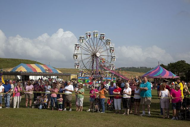 Family Day on the grounds of the Alabama River Pulp Company in Claiborne, Alabama