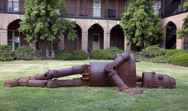 Goldie (1971) outdoor art piece on the grounds of the University of Alabama, Tuscaloosa, Alabama