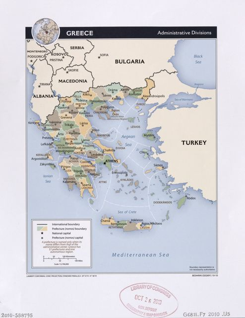 Greece, administrative divisions.