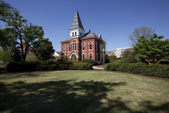 Hargis Hall, built in 1888 and named after Estes H. Hargis. Located on the main campus at Auburn University in Auburn, Alabama