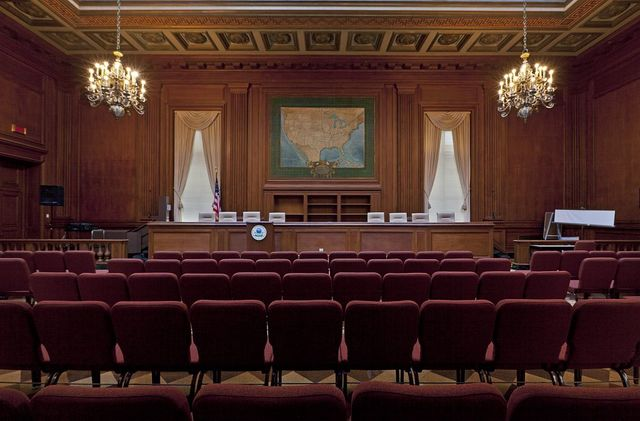 Hearing room, EPA East and West, located on 12th and Constitution Avenue, N.W. and part of the Federal Triangle, Washington, D.C.