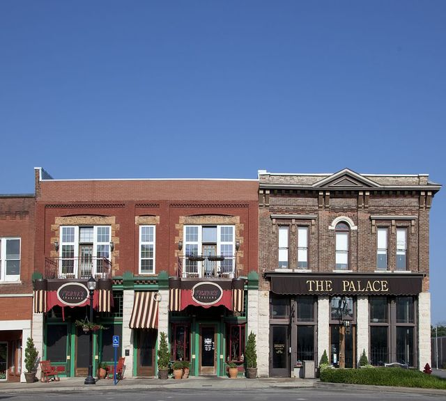 Historic buildings in downtown Tuscumbia, Alabama