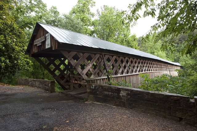 Horton Mill covered bridge, Blount County, Alabama