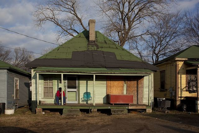 Houses that will soon be gone located at 5th and 3rd Avenue in Birmingham, Alabama