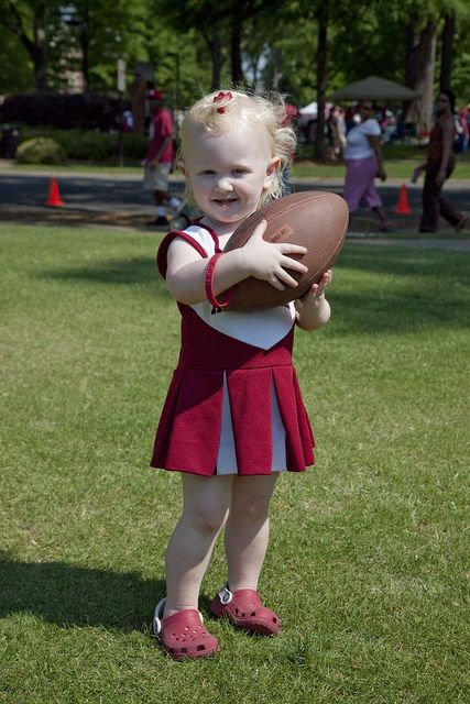 Kaitlyn E. Pesto is all dressed up for her visit to the Alabama A-Day game, Tuscaloosa, Alabama