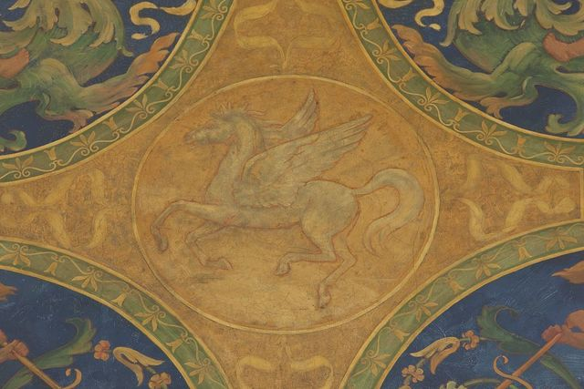 [Librarian's Room. North wall lunette with Pegasus. Library of Congress Thomas Jefferson Building, Washington, D.C.]