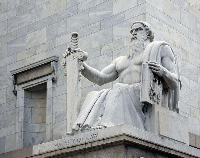 """Majesty of Law"" statue at the Rayburn Building, Independence Ave., SE, Washington, D.C."