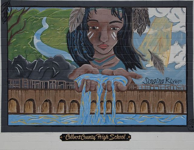 Mural at Colbert County High School, Leighton, Alabama
