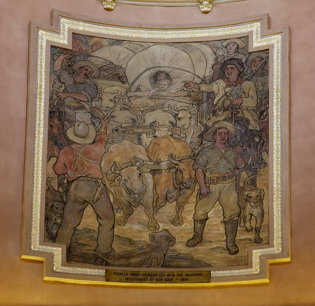 Mural depicting Alabama history by Roderick McKenzie. State Capitol, Montgomery, Alabama