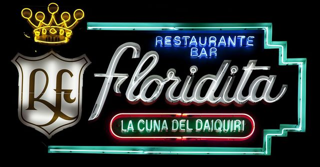 Neon sign from the Floridita Bar, Havana, Cuba