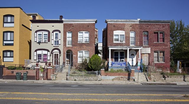 Row houses and buildings, Sherman Ave. near Girard St., NW, Washington, D.C.