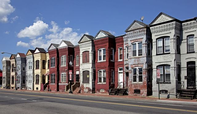 Row houses, Florida Ave. and Porter St., NE, Washington, D.C.