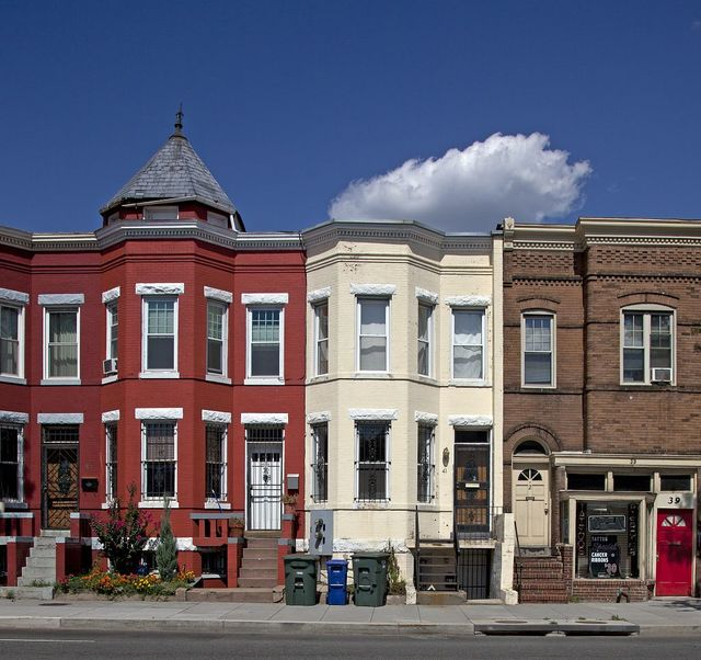 Row houses, Florida Ave. and Q St., NW, Washington, D.C.