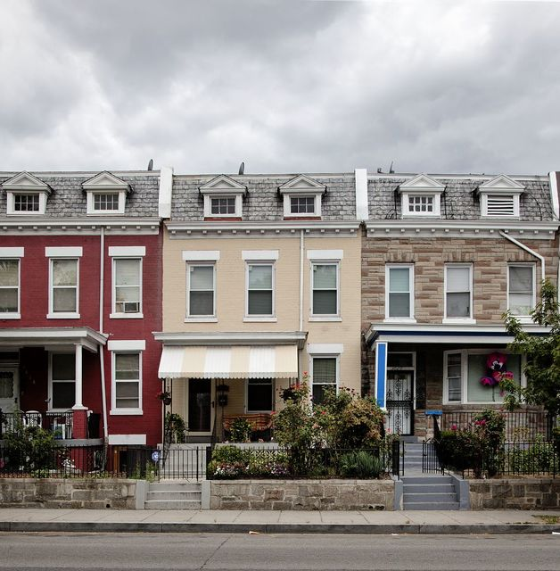 Row houses, New Hampshire Ave. near intersection with Park Rd., NW, Washington, D.C.