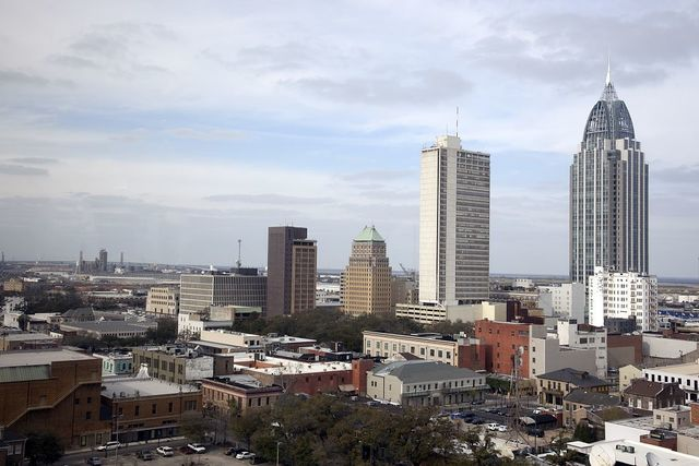 Skyline view of Mobile, Alabama
