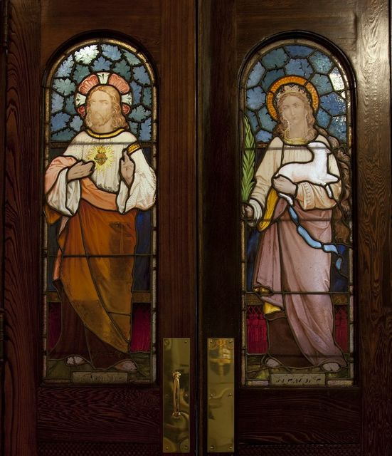 Stained glass doors, Cathedral of the Immaculate Conception, Mobile, Alabama