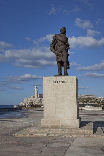 Statue of Francisco de Miranda, located on the Malecón in Havana, Cuba