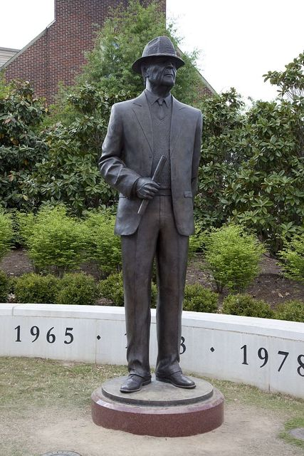 "Statues outside of the Bryant-Denny Stadium to join the Statue of Nick Saban which will be erected and be placed in the Walk of Champions along with the 4 other National Championship coaches (Wallace Wade, Frank Thomas, Paul ""Bear"" Bryant, and Gene Stallings)"