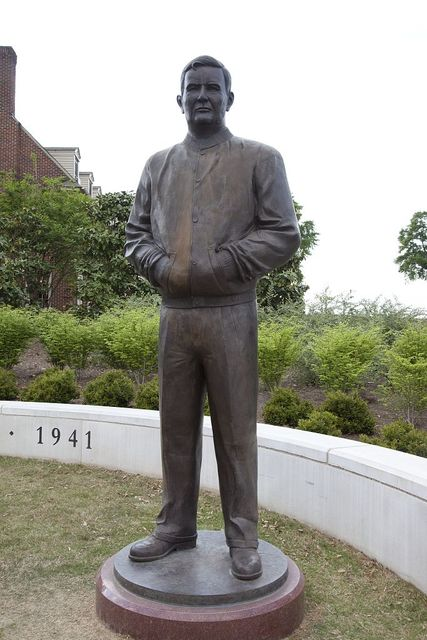 """Statues outside of the Bryant-Denny Stadium to join the Statue of Nick Saban which will be erected and be placed in the Walk of Champions along with the 4 other National Championship coaches (Wallace Wade, Frank Thomas, Paul """"Bear"""" Bryant, and Gene Stallings)"""