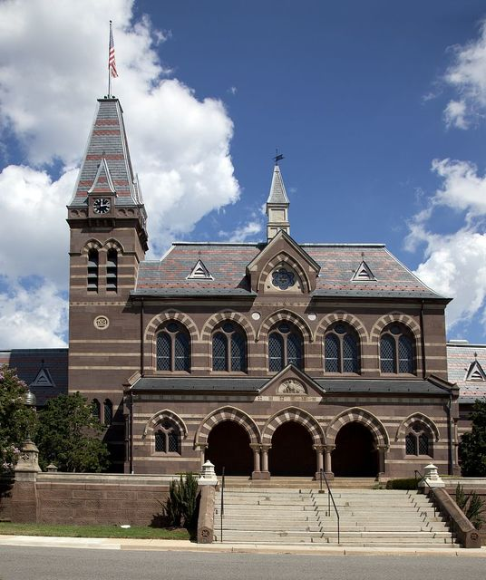 The Chapel Hall building at Gallaudet University, located between 6th and 9th St., NE, Washington, D.C.