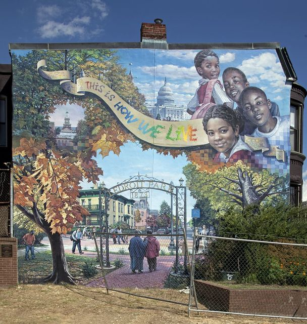 The LeDroit Park Mural on Elm St. in LeDroit Park, a neighborhood in NW, Washington, D.C