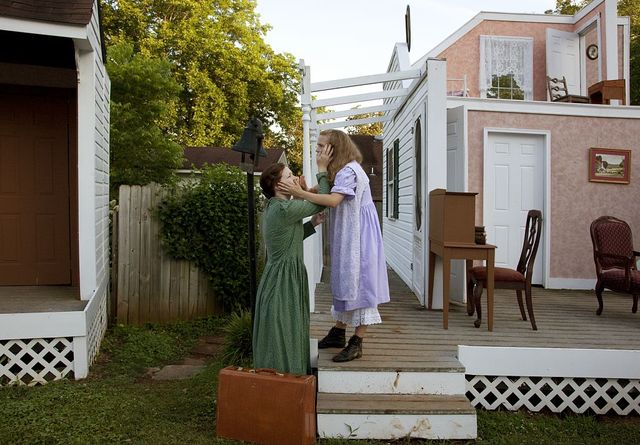 """""""The Miracle Worker"""" play that is actually performed in the back yard of Ivy Green, the home in Tuscumbia, Alabama, where Helen Keller grew up and was born in 1880"""