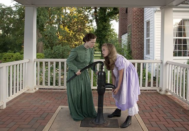 """The Miracle Worker"" play that is actually performed in the back yard of Ivy Green, the home in Tuscumbia, Alabama, where Helen Keller grew up and was born in 1880"