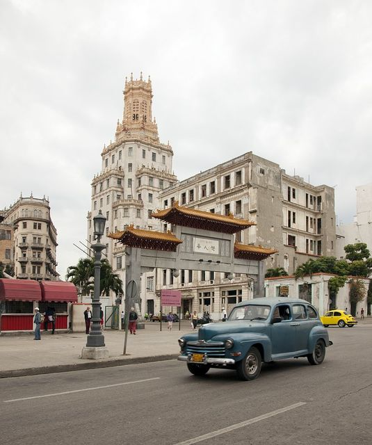 The Paifang (archway) to Chinatown, Havana, Cuba
