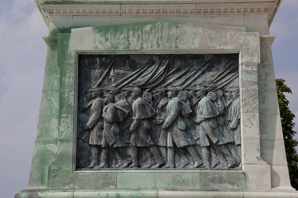 The Ulysses S. Grant Memorial, below the west front of the United States Capitol, Washington, D.C.