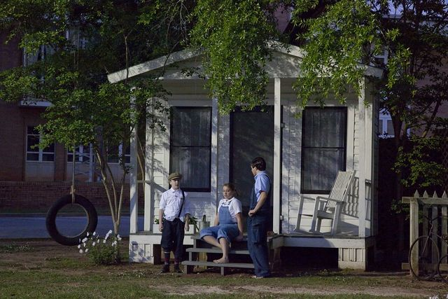 To Kill A Mockingbird play, based on Harper Lee's book, outside the historic courthouse in Monroeville, Alabama