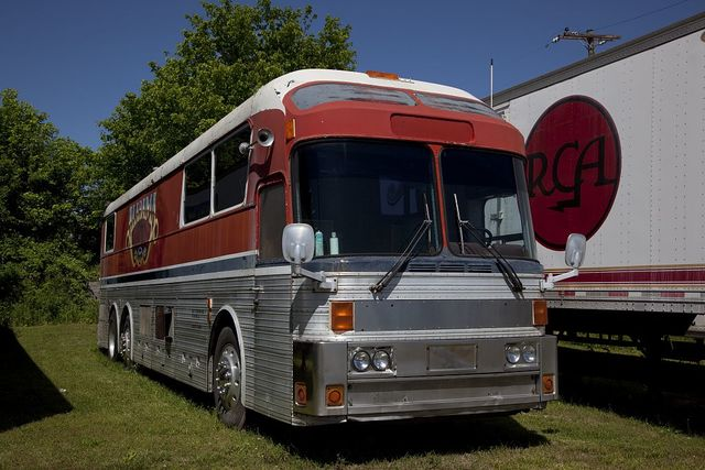 [Tour bus for] Alabama, a Grammy Award-winning country music and southern rock band that originated in Fort Payne, Alabama