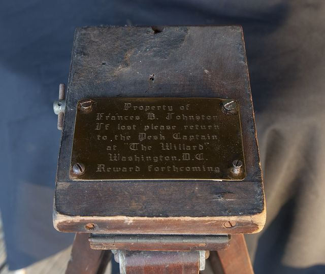 Tripod belonging to Frances Benjamin Johnston found in 2010 in Cordova, Alabama