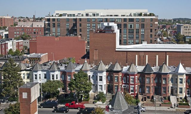 View from the top of the Ellington Building, 1301 U St., NW, Washington, D.C.